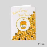 Jewish New Year Package Card Set Honey Design 8 Count