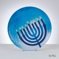 Chanukah Round Melamine Serving Plate