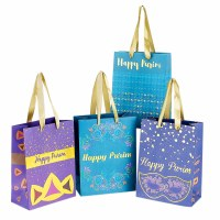 Purim Kraft Gift Bags Set of 4