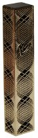 Mezuzah Case with Gold Colored Lazer Cut Metal Spiral Shaped Design 12cm