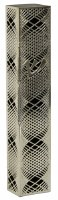 Mezuzah Case with Silver Colored Lazer Cut Metal Spiral Shaped Design 12cm