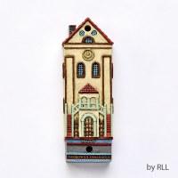 Polyresin Mezuzah Jacobowics Synagogue Design 7.5cm