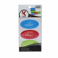 3 Adhesive Soft Plastic Sticker Plaques