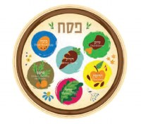 Disposable Seder Plate Silicone Bold Colored Design
