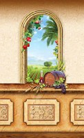 "Shivat HaMinim Tapestry Wall Hanging Sukkah Decoration 90"" x 60"""