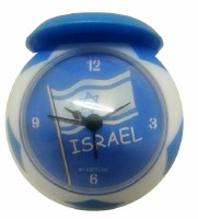 Alarm Clock with Hat Israeli Flag Theme