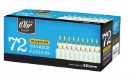 Standard Shabbos Candles 3 Hour - 72 Pack