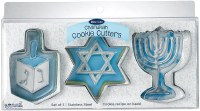 Stainless Steel Cookie Cutters Chanukah Theme Set of 3 Assorted Shapes