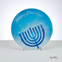 Chanukah Trivet Tempered Glass Menorah Design