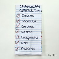 Chanukah Checklist Tea Towel