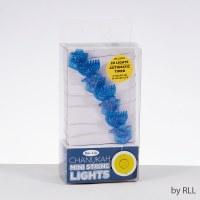 Mini String Lights Dreidel and Menorah Design Battery Operated
