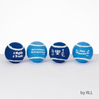 Chewdaica Dog Tennis Balls Chanukah Design Set of 4