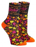 Passover Seder Adult Crew Socks Shoe Size 8-12