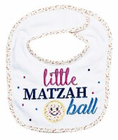 Little Matzah Ball Embroidered Passover Bib