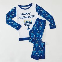 Chanukah Pajamas For Kids Size Medium 8 - 10