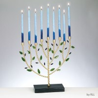 Metal Candle Menorah Hand Crafted OliveTree Design