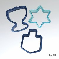 Glitter Cookie Cutters Chanukah 3 Pack
