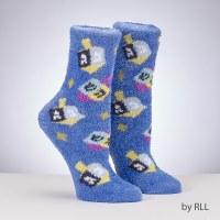Chanukah Cozy Slipper Socks Dreidel Design Youth Size 1-5