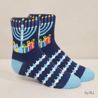 Chanukah Crew Socks Ugly Sweater Design Adult Size 8-12