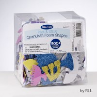 Peel and Stick Chanukah Foam Assorted Shapes 500 Pieces