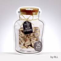Wooden Dreidels in a Jar Small Size 25 Pieces