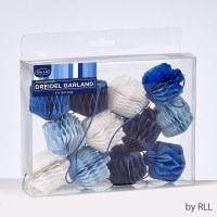 Honeycomb Banner Dreidel Shape Blue and White 6'