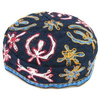 Bukharian Kippah Machine Made #52 Assorted Designs - Single Piece