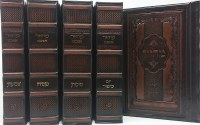 Artscroll Interlinear Machzorim 5 Volume Set Antique Leather Lublin Design Sefard