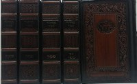 Artscroll Interlinear Machzorim 5 Volume Set Antique Leather Warsaw Design Sefard