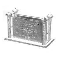 Crystal Match Box Holder for Long Matches Chanukah Blessings Crushed Stones Design