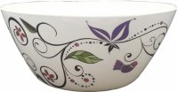 Salad Bowl Melamine Swirl and Butterfly Design