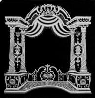 Tefillin Bag Velvet Silver Embroidered Chuppah Design Black