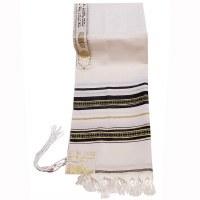 "Tallis Wool Size 18 Decorative Ribbon Style #18 Black and Gold 18"" x 72"""
