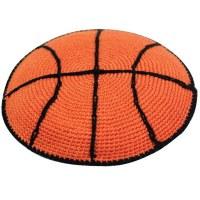 Orange Basketball Knitted Kippah Serugah 11cm - A18