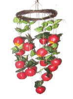 Large Apples Hanging Fruit Sukkah Decoration