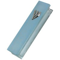 Glass Blue Matt Mezuzah Case 20cm