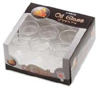 #2 Round Oil Glass - 9 Pack