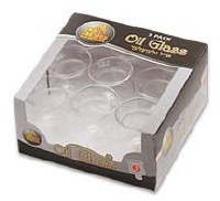 #3 Round Oil Glass - 9 Pack
