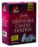 Extra Heavy Disposable Candle Holder 50 Pieces