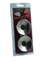 Silver Safety Candle Holder - 2 Pack