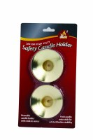 Gold Safety Candle Holder - 2 Pack