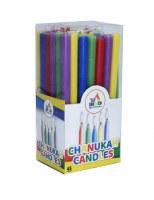 Long Chanukah Candles Multi Color