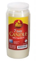 7 Day Shiva Memorial Candle Plastic Jar