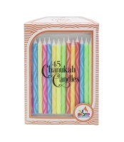 Chanukah Candles Wavey Patern Pastel Colors
