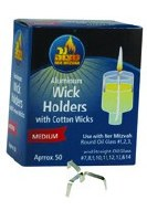 Aluminum Holder and Wick Holders - 50 Pack