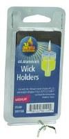 Medium Aluminum Wick Holders - 44 Pack