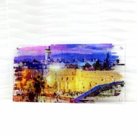 """Lucite Kosel Wall Hanging Artwork Multi Color 15"""" x 30"""""""