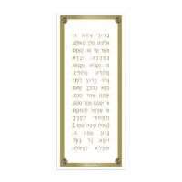Asher Yatzar Lucite Plaque Modern Design Gold Ashkenaz