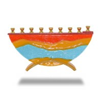 Candle Menorah Hand Crafted Desert Miracles Design