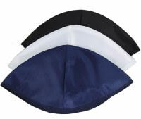 Shul Kippot Unlined Rayon White Bulk Pack of 144